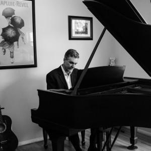 Todd Hunter at the piano